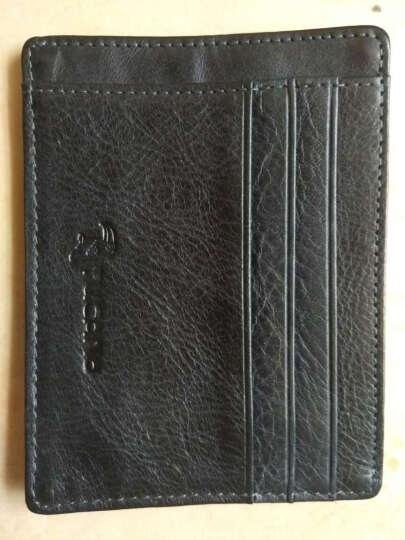 啄木鸟男士牛皮卡包 时尚休闲小钱包驾照名片夹 WAD0041A-89蓝色 晒单图