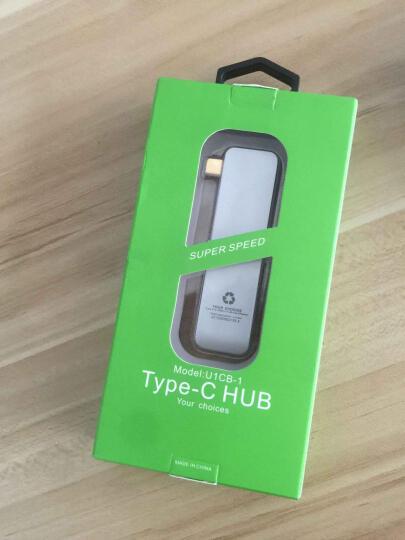 纽米 usb-c转换器 带SD读卡器 苹果联想笔记本type-c转usb hub 转接头 type-c扩展3usb+SD 金色 晒单图