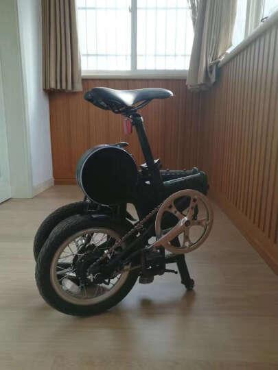RBIKE骑达折叠助力自行车14寸折叠电动车锂电自行车骑达R4 黑色R4 晒单图
