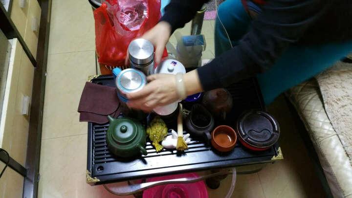 甲馨 紫砂功夫茶具套装 陶瓷冰裂白瓷茶壶茶杯整套茶具 电热磁炉实木分体茶盘茶台 清香绿冰裂茶具套装 晒单图