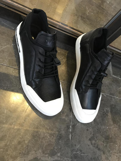 法国芭步仕男靴新款马丁靴头层牛皮真皮雪地靴商务鞋皮靴棉鞋靴子 棕色套脚 43 晒单图