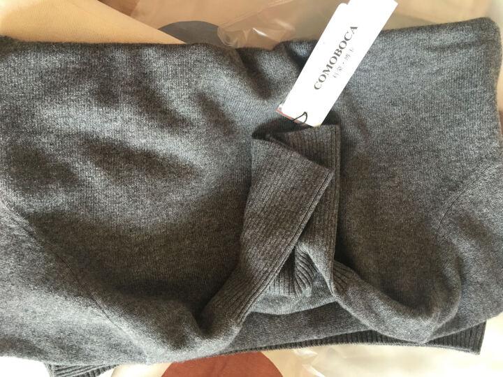 科蒙博卡 秋冬款 女纯羊绒衫 纯色修身打底衫山羊绒保暖高领毛衣 黑色 115/XXL 晒单图