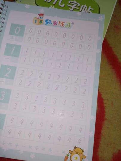 3本套装 儿童学前基础 练字帖贴魔幻凹槽练字钢硬笔练字板拼音笔画数字描红本字母幼儿园小学生 晒单图