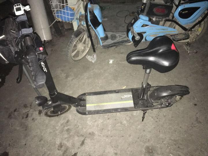 九悦X5炫酷黑36V18AH/55-60KM/带座位/10寸轮胎/宽踏板/镁合金/超长续航/电动滑板车/折叠自行车 晒单图