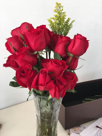 中礼 情人节鲜花速递同城 创意手提花篮 开业花篮 康乃馨 混搭红香槟玫瑰花11朵送生日礼物 19朵白玫瑰花礼盒-送闺蜜 晒单图