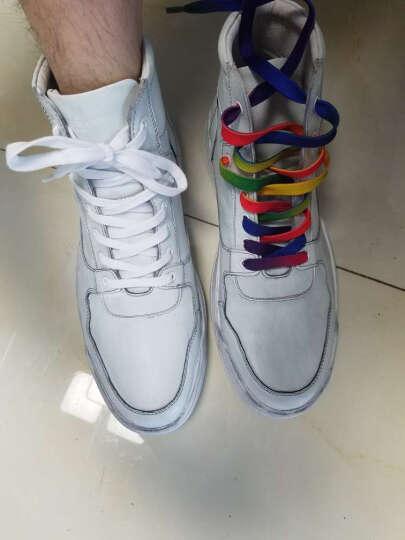 太平鸟男装 新款做旧白色时尚高帮鞋男士青年潮流休闲鞋BWZD64101 白色 41 晒单图