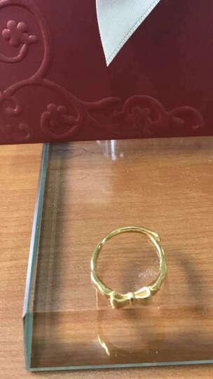 菜百首饰 黄金戒指 足金吉品金蝴蝶结活圈女士戒指 计价 黄金戒指 约3.40g 晒单图