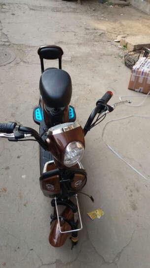 osagie电动车骏马电动自行车48超威电池安静稳定载人助力车真空轮胎350瓦电动滑板轻便 弯把款蓝色 配48v12a锂电池 晒单图
