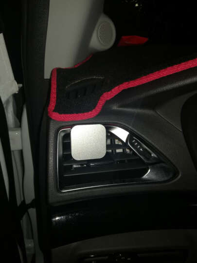 CROSSLINE车载手机支架磁性汽车空调出风口通用卡扣式磁吸导航座 方形出风口支架-儒雅银 晒单图