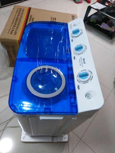 万爱(Wanai) 6公斤 半自动双杠 双桶波轮洗衣机 迷你波轮小洗衣机 XPB60-108S 透明蓝 晒单图