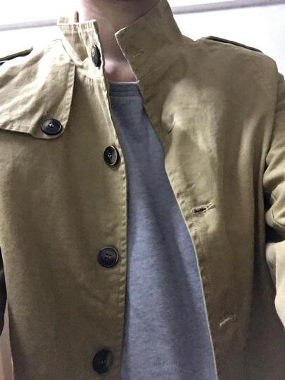 布草藤 双面穿夹克男青少年学生外套2017春季连帽修身韩版新款薄款休闲 6085灰色 4XL 晒单图