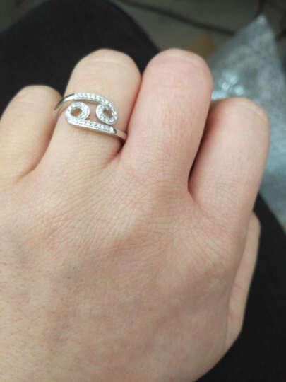 MyMiss 十二生肖戒指 女食指开口 925银镀铂金指环 情人节礼物 情侣送礼 银饰品 生日礼物 猴 晒单图