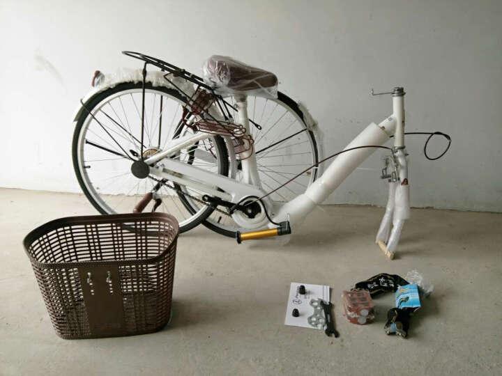 凤凰(Phoenix) 城市自行车轻便通勤自行车女式学生男女复古公主淑女单车 24寸芭蕾 粉色 晒单图