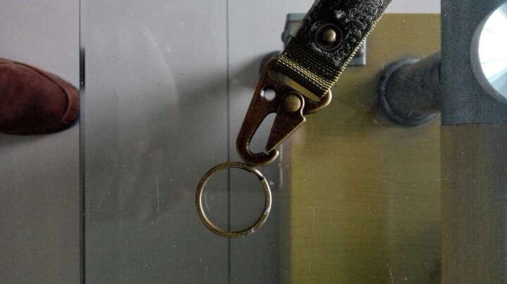 户外快挂钥匙扣  背包携行锁钩带金属尼龙挂扣EDC鹰嘴战术勤务扣户外molle挂钩 黑色 晒单图