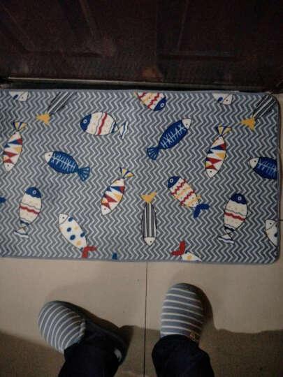加厚地毯地垫进门门厅门垫厨房脚垫浴室防滑垫长条吸水家用垫子卫浴垫 古怪精灵 50*80厘米 晒单图