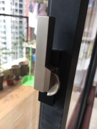 家柏饰 大方型 铝合金塑钢平移推拉门窗月牙锁 门窗锁扣 窗锁 窗户搭扣 左开 晒单图