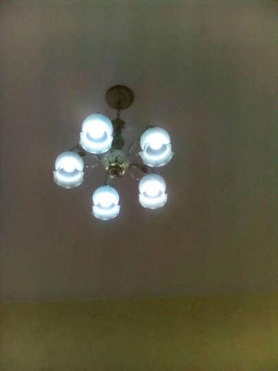 蒙特丽灯饰 欧式吊灯田园客厅灯餐厅灯卧室书房灯饰豪华照明灯具9055B 8+3头吸吊两用 带满天星LED灯泡 晒单图