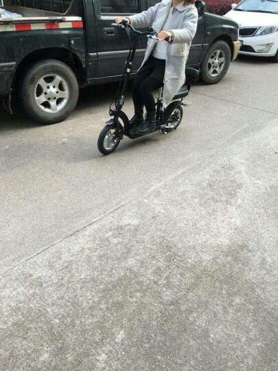 沃普达 12寸女士两人电动滑板车成人电瓶车迷你电动车代步车锂电代驾车折叠锂亲子车 儿童座椅一套。非整车 晒单图
