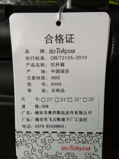 itoTokyoa磨砂拉杆箱万向轮行李箱男女旅行箱24英寸 金色 晒单图
