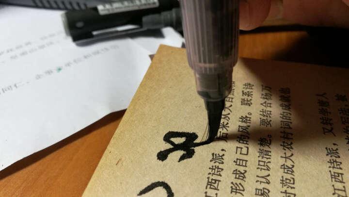 【进口墨笔】日本吴竹进口抄经小楷毛笔 科学灌水便携墨笔自来水笔 写经自来水笔签字笔 朱色墨胆补充液 晒单图