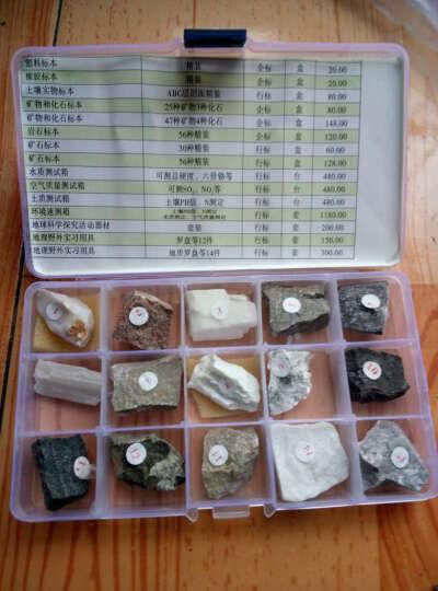 15种 矿物标本 矿石地质科普 地理教具 教学仪器 晒单图