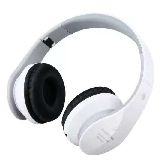 MATE 蓝牙耳机头戴式 插卡重低音手机电脑电视无线音乐便捷MP3播放器折叠电脑手机通用 白黑色-纹路款 晒单图