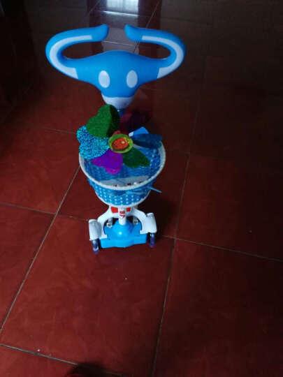 儿童蛙式滑板车四轮闪光摇摆车扭扭车双脚踏板音乐灯光滑行剪刀车 普通款 蓝色 晒单图