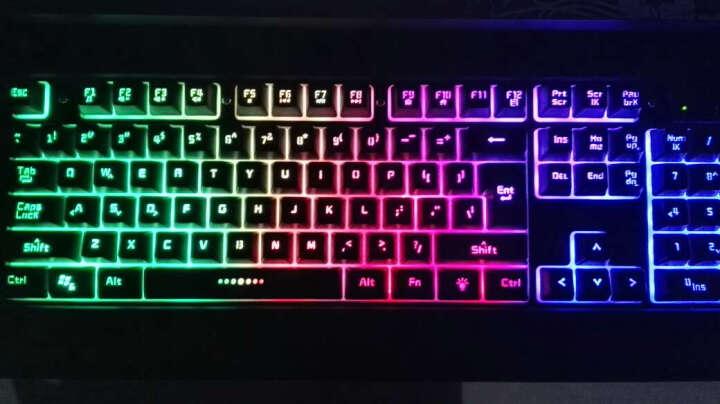 名雕 RX-2掠夺者 有线键盘机械手感游戏键盘彩虹背光19键无冲104悬浮键帽LOL守望先锋 RX-8白色 晒单图
