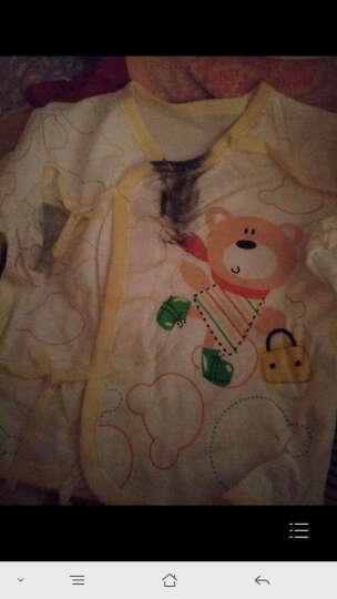 【送肚兜+围嘴+防抓手套】新生儿内衣套装五件套宝宝纯棉打底服刚出生婴儿内衣猴宝宝衣服0-3 小熊款黄色 59码 晒单图