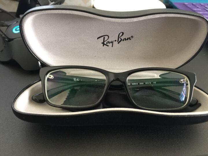 Ray-ban 雷朋近视眼镜框男女款全框板材复古光学镜架可配镜RB5296-D 外蓝内黑 配依视路1.67钻晶A4 晒单图