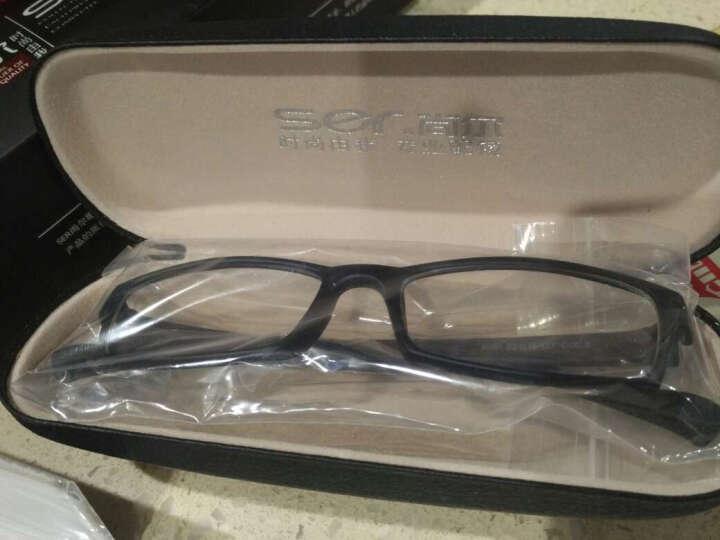 尚尔(S.E.R)防辐射眼镜 防蓝光电脑护目镜 平光镜男女款可配近视眼镜框架 8001亮黑色+0度防蓝光防辐射镜片 晒单图