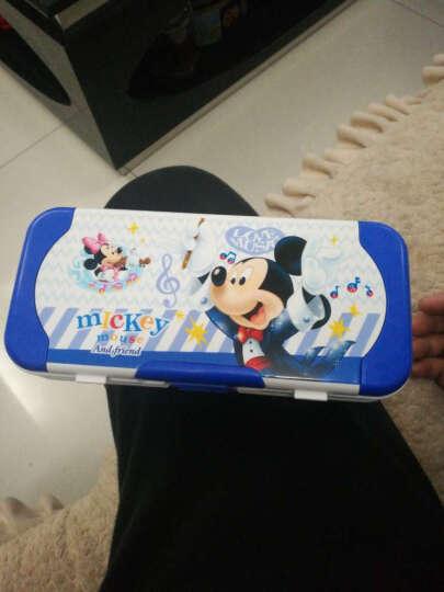 迪士尼开学礼物小学生男女三层塑料文具盒可爱卡通创意儿童多功能铅笔盒 带套尺 小猴-浅绿 晒单图