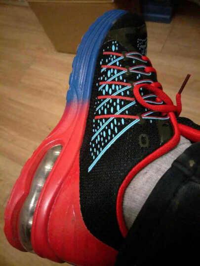 波鞋男春季青少年跑步鞋45码初中学生运动鞋男透气网鞋男生休闲气垫鞋 617荧光绿 41 晒单图