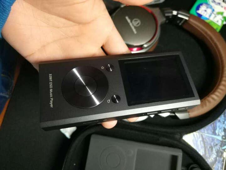 aune M1S DSD硬解 MP3 HiFi 32Bit无损音乐播放器 便携式耳放随身听 黑色 Black 碳黑色 标配+32G TF卡 晒单图