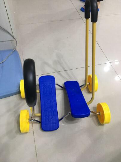 儿童平衡踩踏车四轮平衡脚踏车感统训练教具健身玩具用品 大号黄色 晒单图