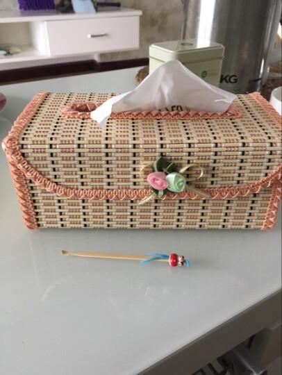 华居尚品 海草纸巾盒 长方形抽纸收纳盒 巧克力色 8.5*12.5*27cm 晒单图