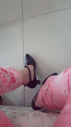 2017新款高跟鞋 时尚性感细跟单鞋防水台职业百搭舒适通勤女鞋 黑色 35 晒单图