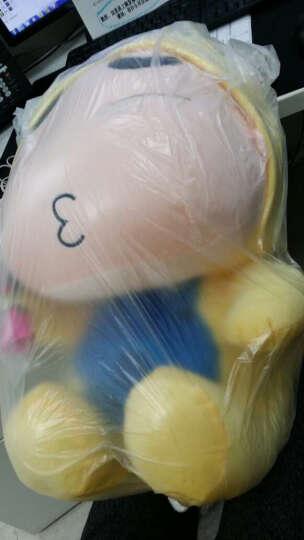 阳光猴 可爱变身蜡笔小新公仔抱枕靠垫毛绒玩具大号布娃娃玩偶生日礼品女生 龙猫小新眯眼款 35厘米 晒单图