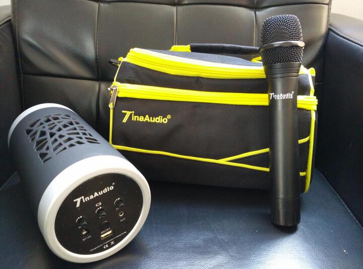 212 便携式U盘音箱带无线手持麦克风话筒K歌教学会议培训演讲扩音器 蓝色 晒单图