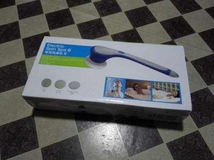 电动沐浴刷搓澡机长柄搓背角质搓背按摩刷洗澡 蓝色 晒单图
