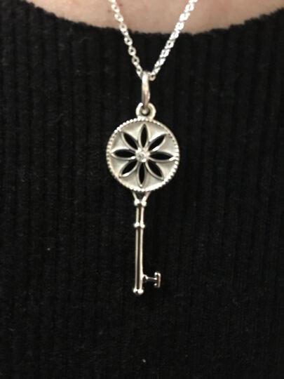 蒂芙尼蒂凡尼 Tiffany 银镶钻雏菊钥匙吊坠项链 26887712 1.5英寸 晒单图