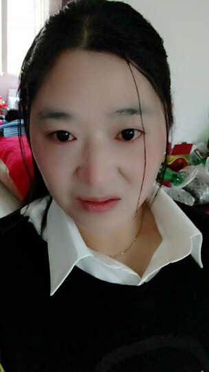 诱朵衬衫女长袖2019春秋冬职业装青花瓷印花上衣修身打底衫 白色加绒 XL 晒单图