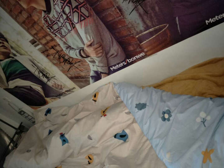 IQogir  全棉四件套简约ins纯棉床单床笠秋冬季学生宿舍卡通三件套北欧风婚庆可爱被套可水洗 花开Bloom 2.0床单款 (被套220x240cm) 晒单图