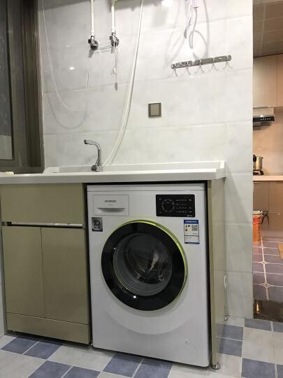 万湖(WANHU) 万湖 不锈钢阳台滚筒洗衣机柜 带搓衣板浴室柜组合 1.2米-白色-左盆 晒单图