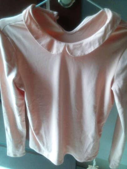 茵曼新装娃娃领长袖T恤上衣女【18630VP21229】 米白色 S 晒单图