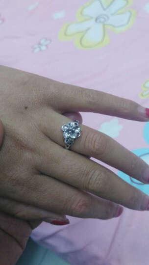 久爱桃花925银戒指女戒指时尚银指环银戒子开口 晒单图