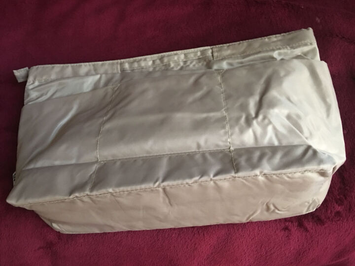 乐百格包中包韩版旅行化妆品收纳包防水内包整理袋女包多功内胆包 蓝色 大号 晒单图