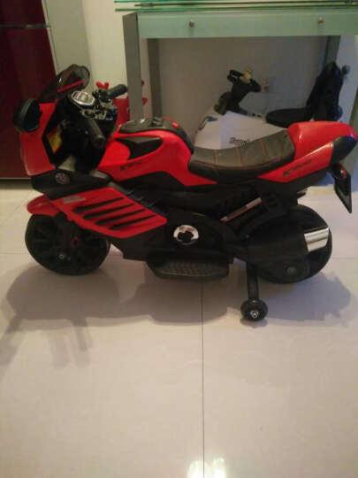 宝贝虎新款儿童电动车三轮摩托车小孩童车配辅助轮双驱双电玩具礼物1-7岁 红色+双电双驱+音乐+皮座位 晒单图