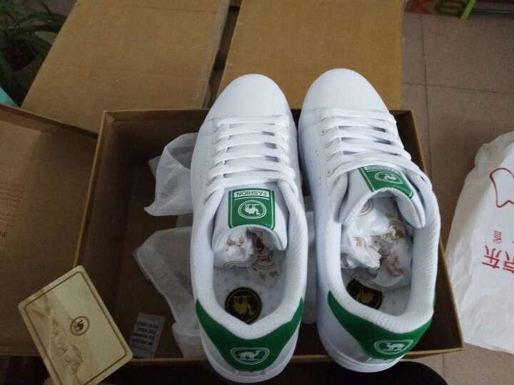 骆驼牌 板鞋运动休闲鞋平底小白鞋女单鞋 W71360502 白/梅红 38/240码 晒单图