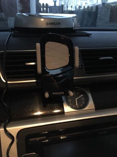 飞利浦(PHILIPS) 车载手机支架DLK35001空调出风口嵌入卡扣通用手机支架 360度空调出风口支架  白色 晒单图
